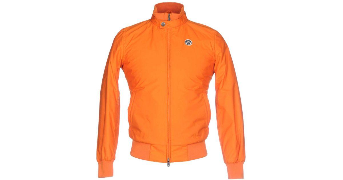 north sails jacket in orange for men lyst. Black Bedroom Furniture Sets. Home Design Ideas