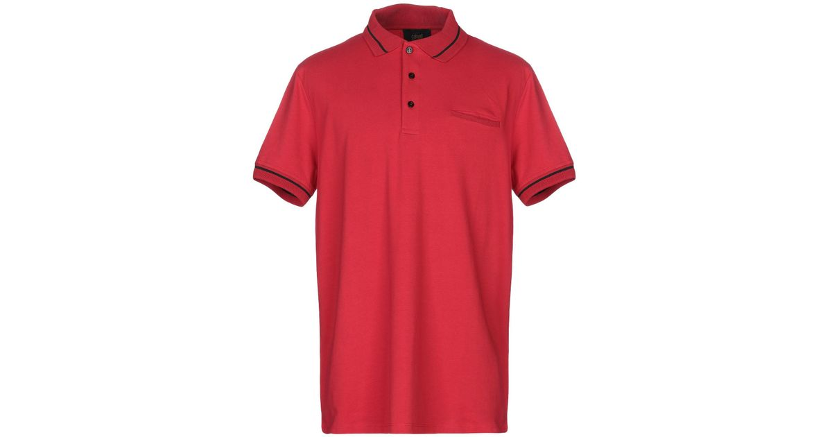3712643ffd6 Lyst - Class Roberto Cavalli Polo Shirt in Red for Men
