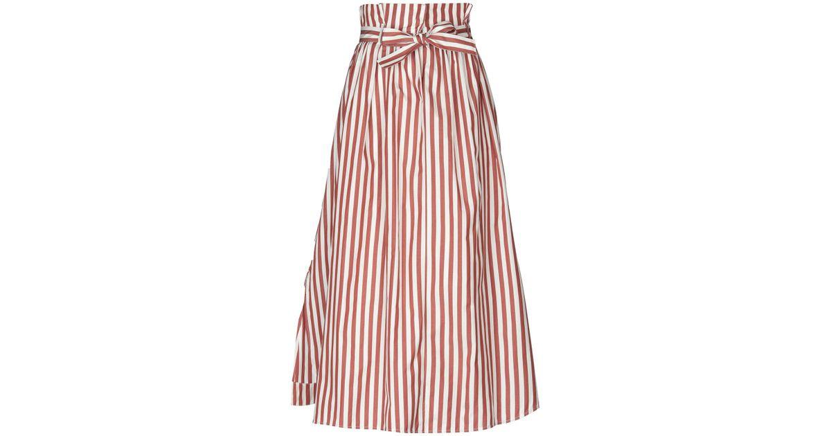 370423741c Weekend by Maxmara Long Skirt in Brown - Lyst