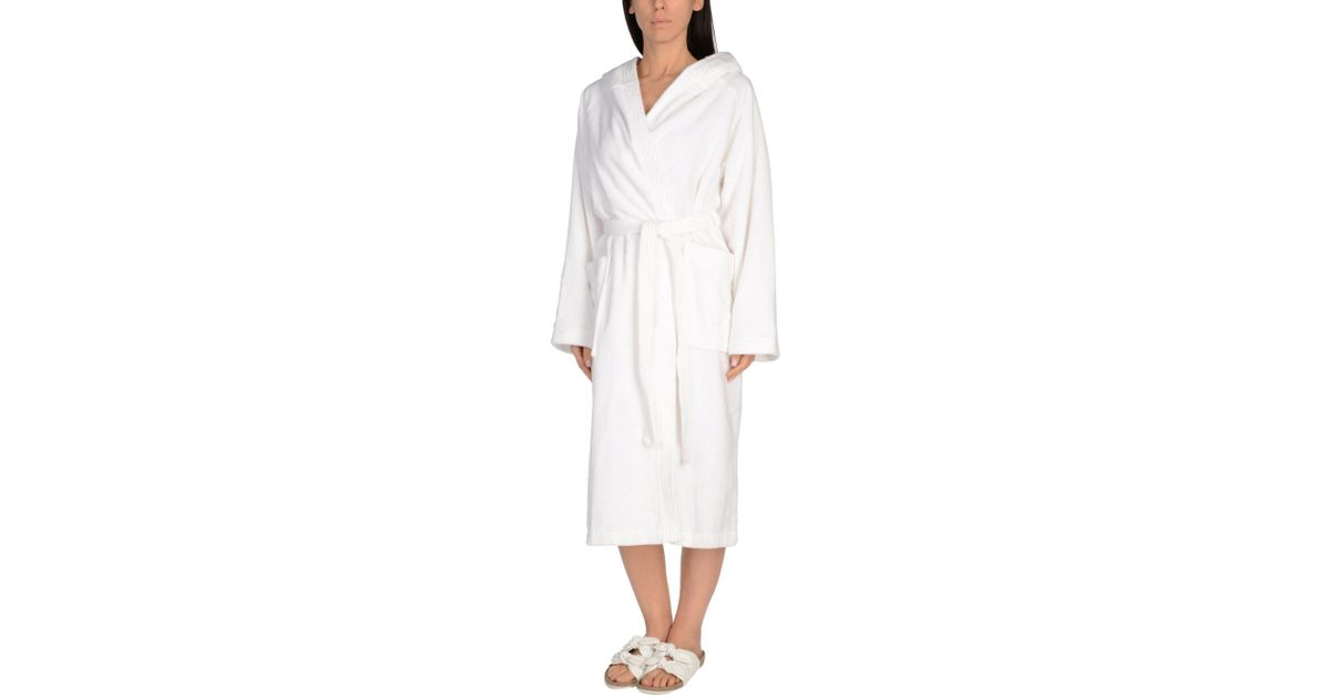 Golden Goose Deluxe Brand Towelling Dressing Gown In White Lyst