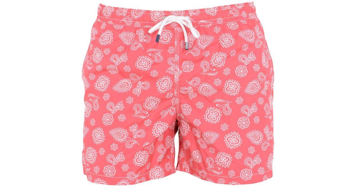 86b57277bb Fedeli Swimming Trunks in Pink for Men - Lyst