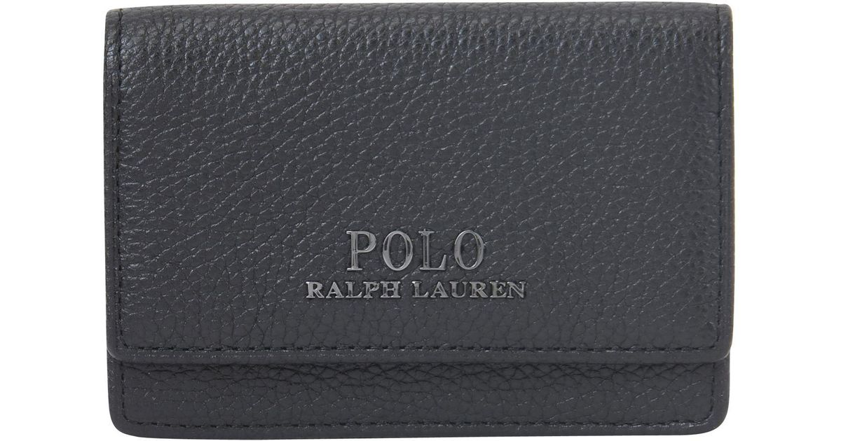 outlet online fashion uk cheap sale Polo Ralph Lauren Leather Coin Purse in Black for Men - Lyst