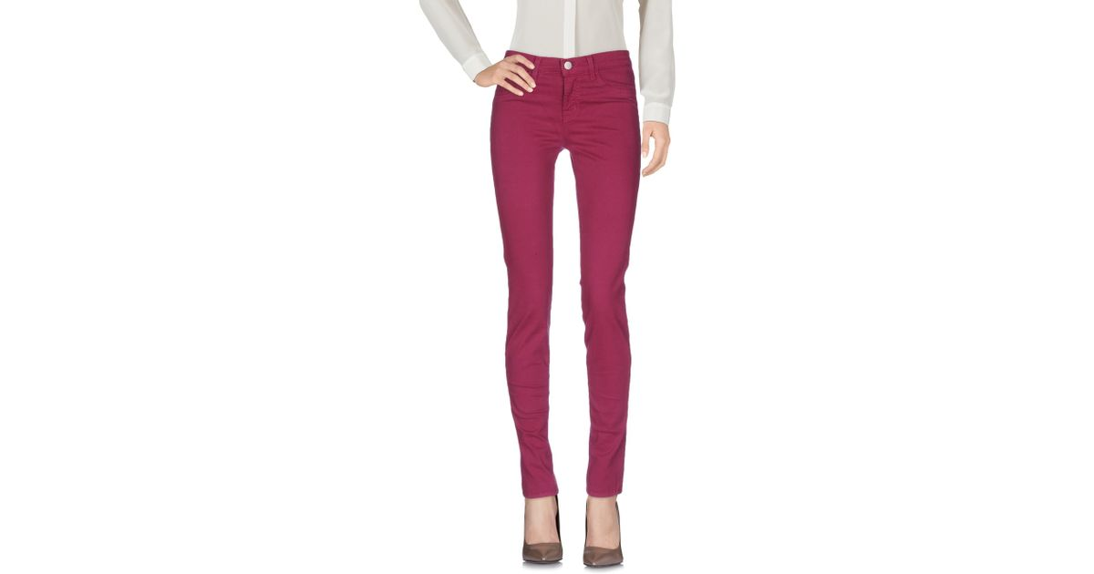 J brand casual trouser in blue mauve lyst for Life fashion bremen