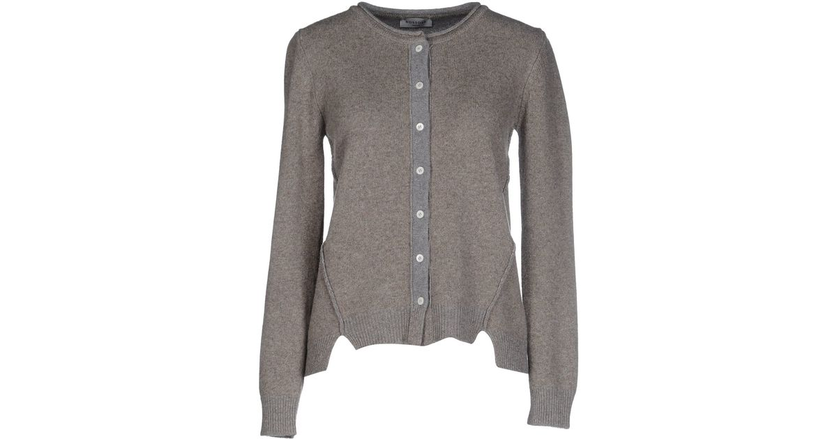 Rosso35 cardigan in gray light grey lyst for 20 34 35 dress shirts