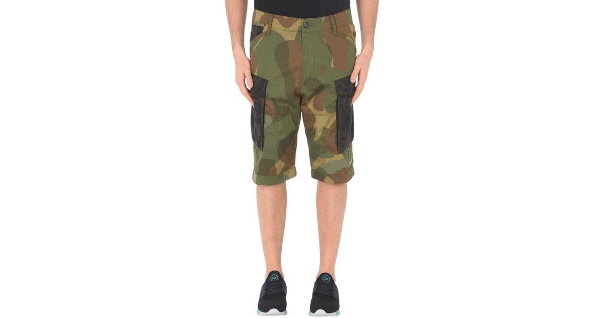 ffe517a98 G-Star RAW Green Bermuda Shorts for men