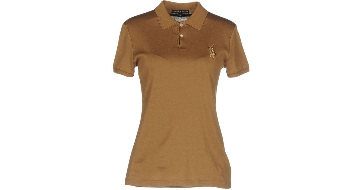 Lyst ralph lauren black label polo shirt in brown for Ralph lauren black label polo shirt
