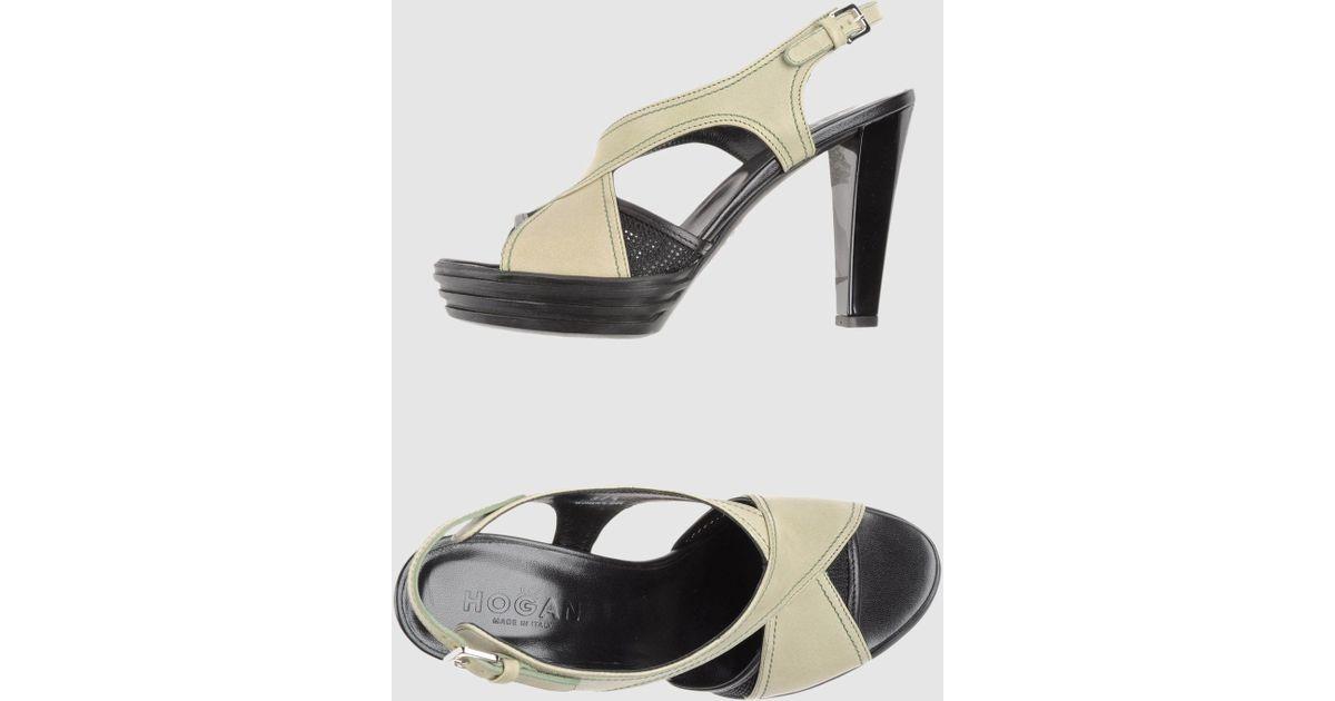 4bbe0365409e Lyst - Hogan Platform Sandals in Natural