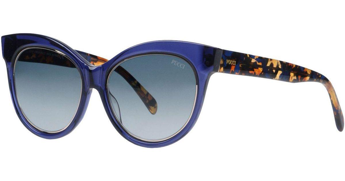 Blue En Lunettes Coloris De Emilio Soleil Pucci beH2WDIE9Y