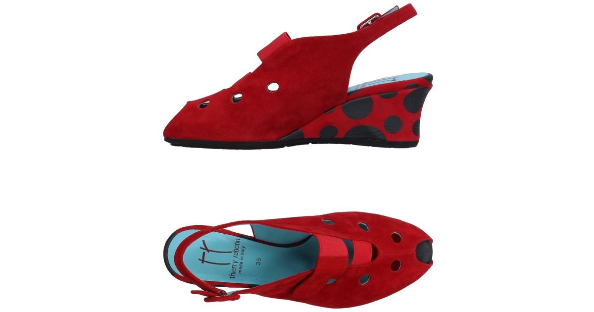 Thierry Rabotin Leather Sandals in Red