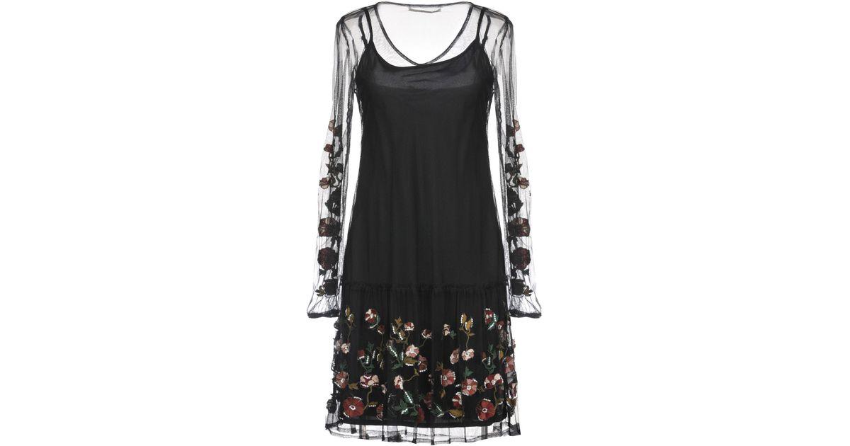 En Gaudi Black Robe Courte Coloris O8P0nwk
