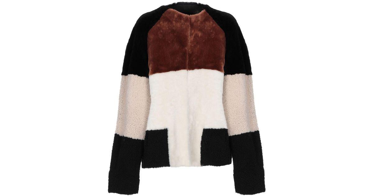 Lyst - Alberta Ferretti Coat in White 93d825fd7