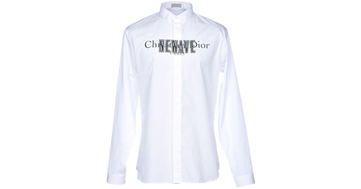 1f204f26adb coloris homme pour Chemise Lyst en Dior Homme Blanc 1xIqYw