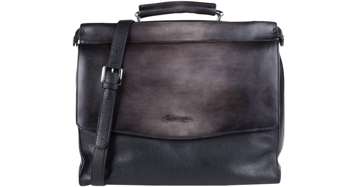 Santoni Black Work Bags