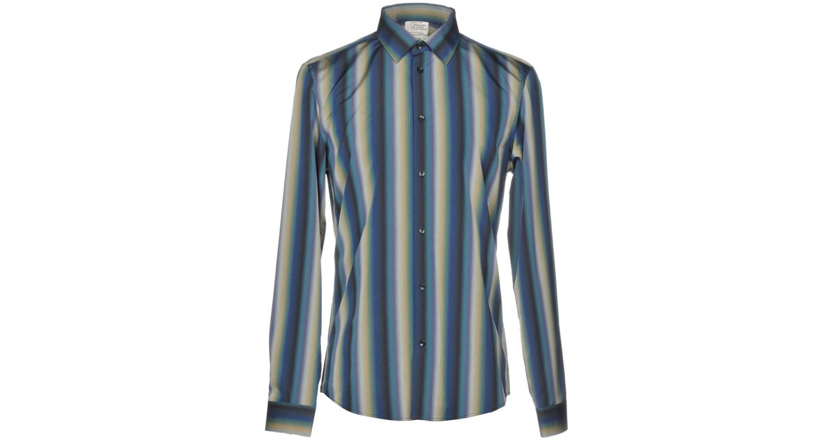 For Chemise Lyst Versace Blue Men 34cjLq5RA