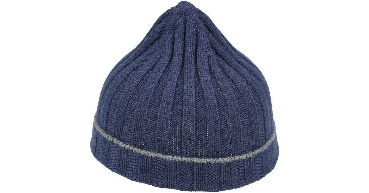 Lyst - Brunello Cucinelli Hat in Blue for Men a519169385b8