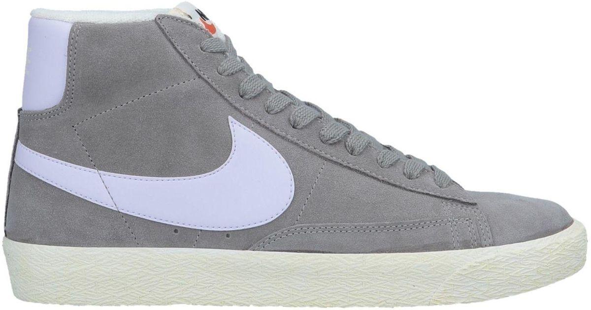 Nike Suede High-tops \u0026 Sneakers in Grey