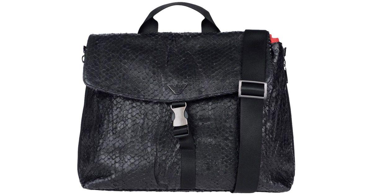 149e43df48204 Lyst - Sacs de travail Emporio Armani pour homme en coloris Noir