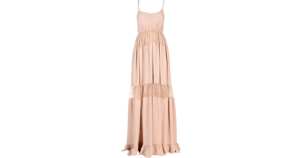 Pink long dress N 9FB2oB76fu