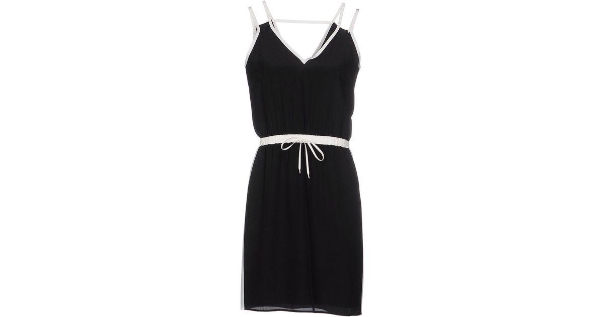 Lyst Karl Lagerfeld Short Dress In Black