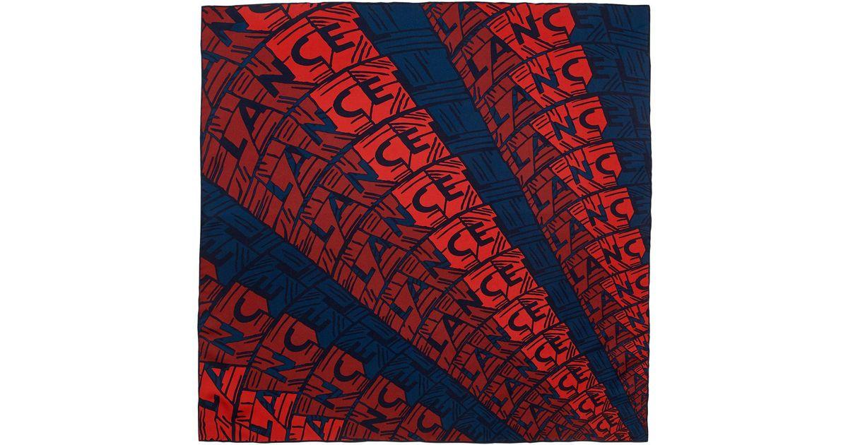 Lyst - Foulard Lancel pour homme en coloris Rouge 7509adbfdcc