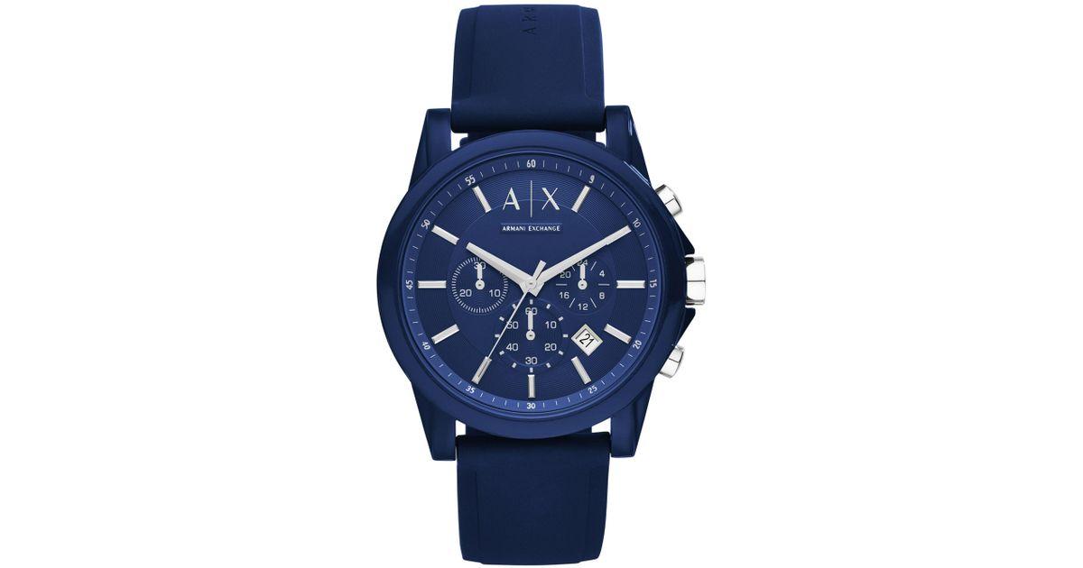 Lyst - Reloj de pulsera Armani Exchange de hombre de color Azul ca08f2e9bef3