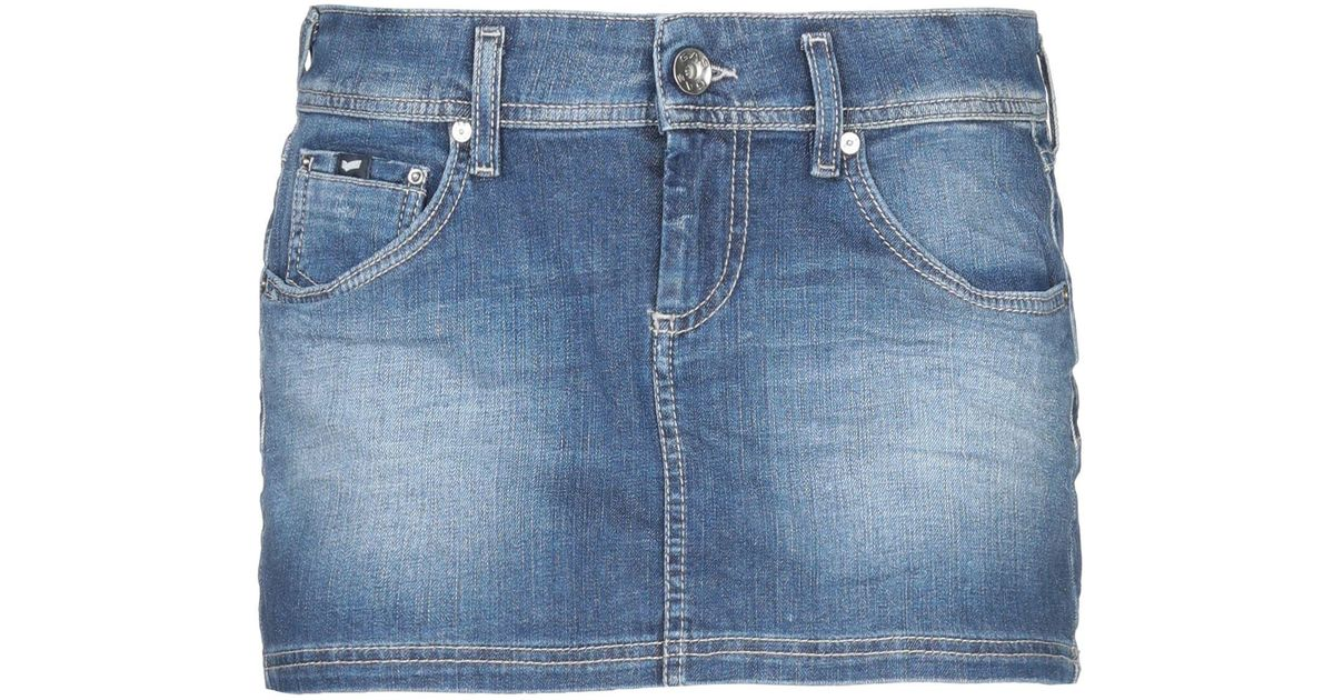 Femme Bleu Tommy Hilfiger Jupe en jean à empiècement
