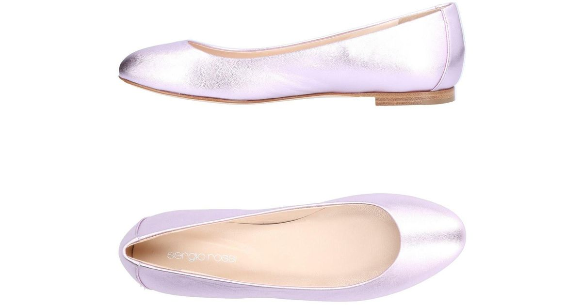 Sergio Rossi Leather Ballet Flats in