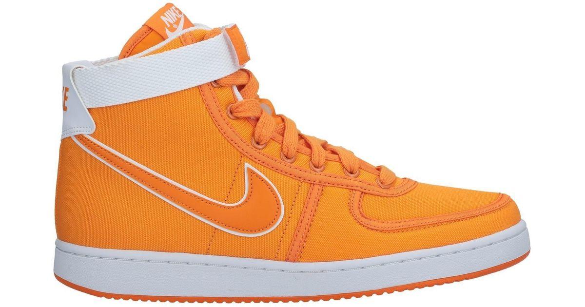 nike high tops orange