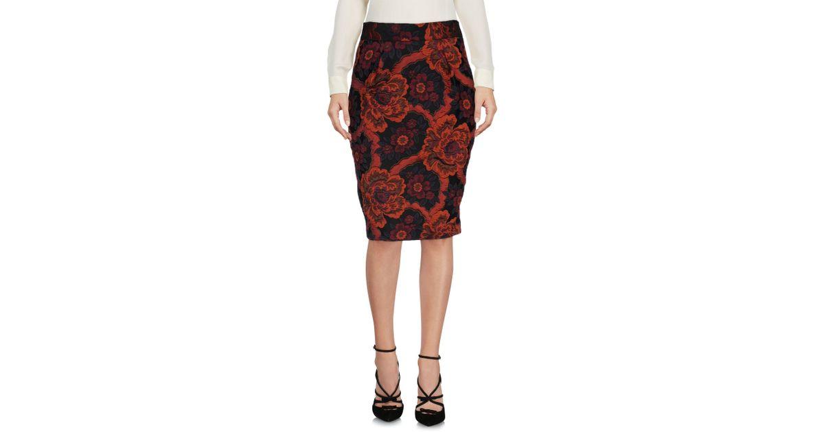 Lyst Biani Skirt In Knee Length Alberto Black 5q4cSA3RjL