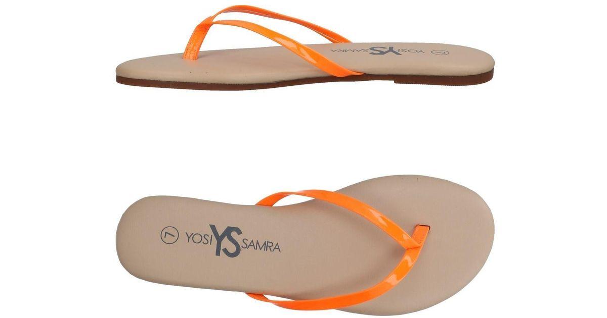 FOOTWEAR - Toe strap sandals on YOOX.COM Yosi Samra PlYHyO1oq0