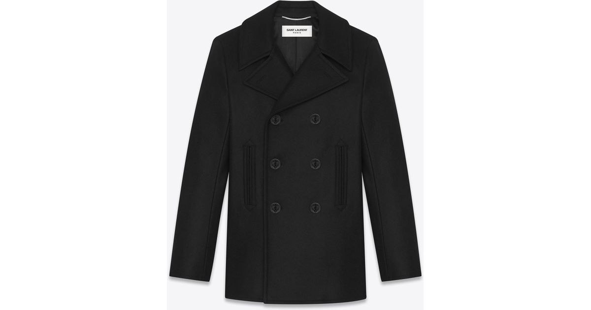 bb75f79e57 Saint Laurent Caban Marin In Black Virgin Wool for men