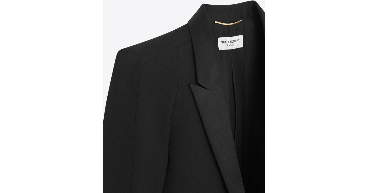 4130d28bd1 Saint Laurent Tux Jacket With Square-cut Shoulders In Black Gabardine for  men
