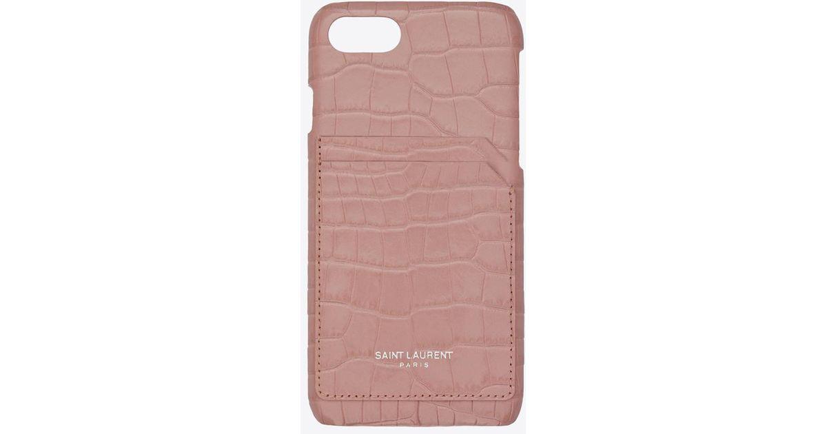 buy popular dbba8 faa4c Saint Laurent Pink Iphone 8 Case