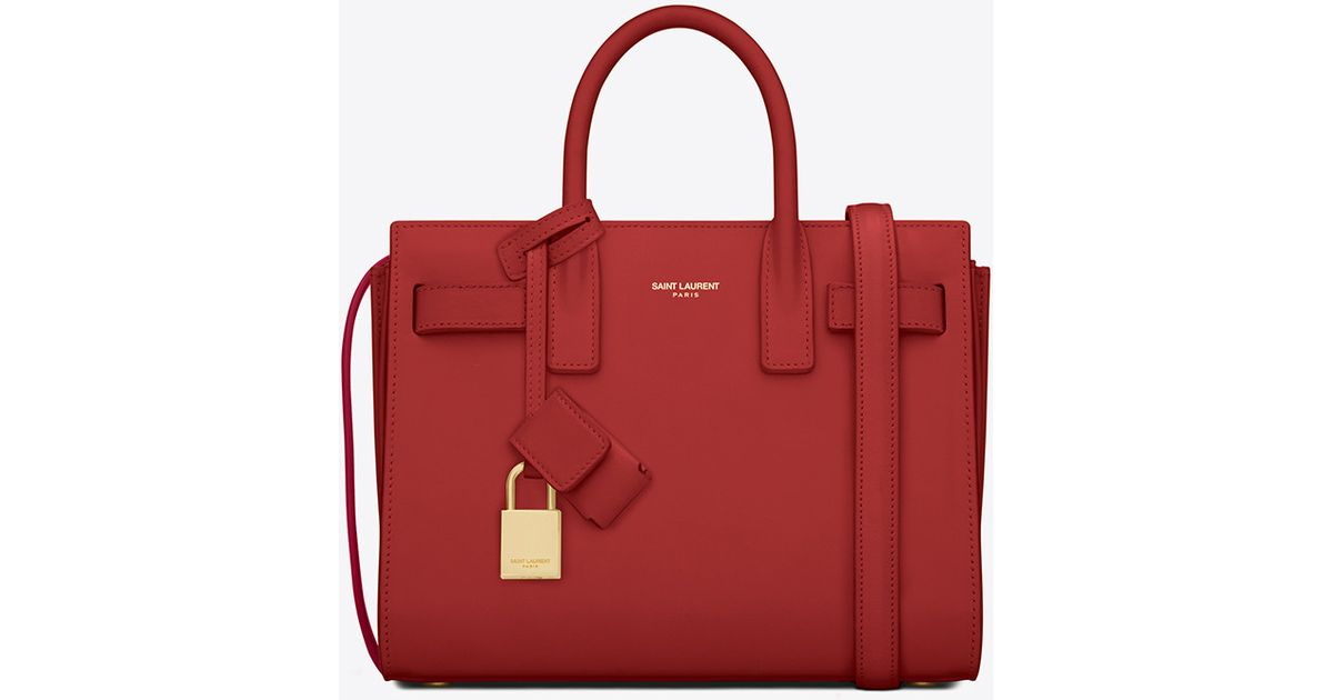 c2c6e76ae4 Lyst - Saint Laurent Classic Nano Sac De Jour Bag In Lipstick Red Leather  in Red