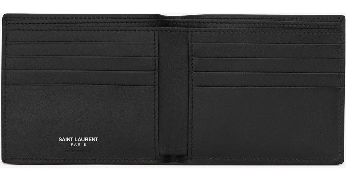 9314857328c Saint Laurent Paris Ysl Shield Patch East/west Wallet In Black Leather in  Black for Men - Lyst