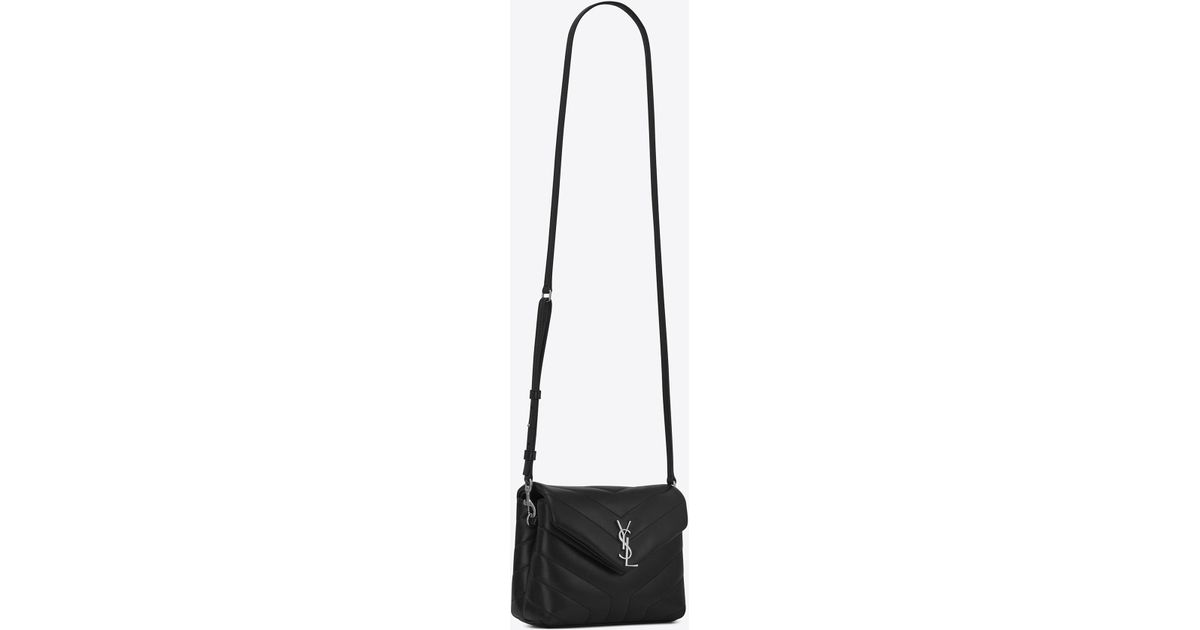 1a105324bc3a Lyst - Saint Laurent Toy Loulou Strap Bag in Black
