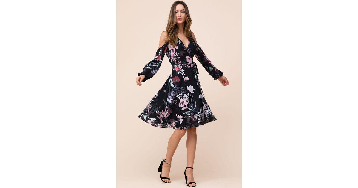 Yumi Kim Synthetic Dashing Wrap Dress In Black Lyst