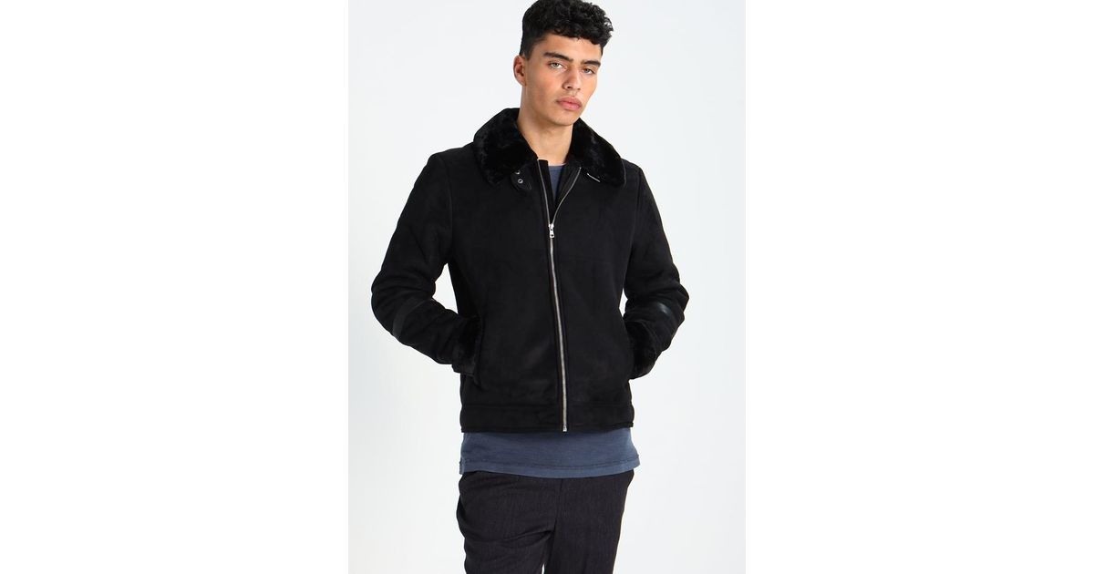 Lyst - Jack   jones Jorair Faux Leather Jacket in Black for Men 440767a6a2f9