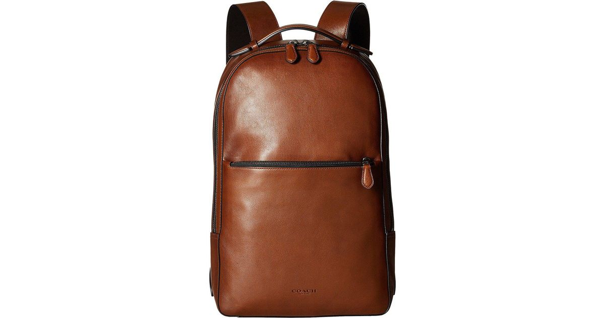 f2fd6b02a COACH Metropolitan Soft Backpack (qb/dark Saddle/black) Backpack Bags in  Brown for Men - Lyst