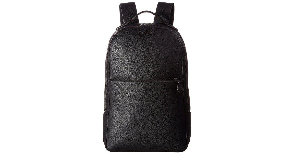 37e0d66e1 ... new style lyst coach metropolitan soft backpack qb dark saddle black  backpack bags in black for