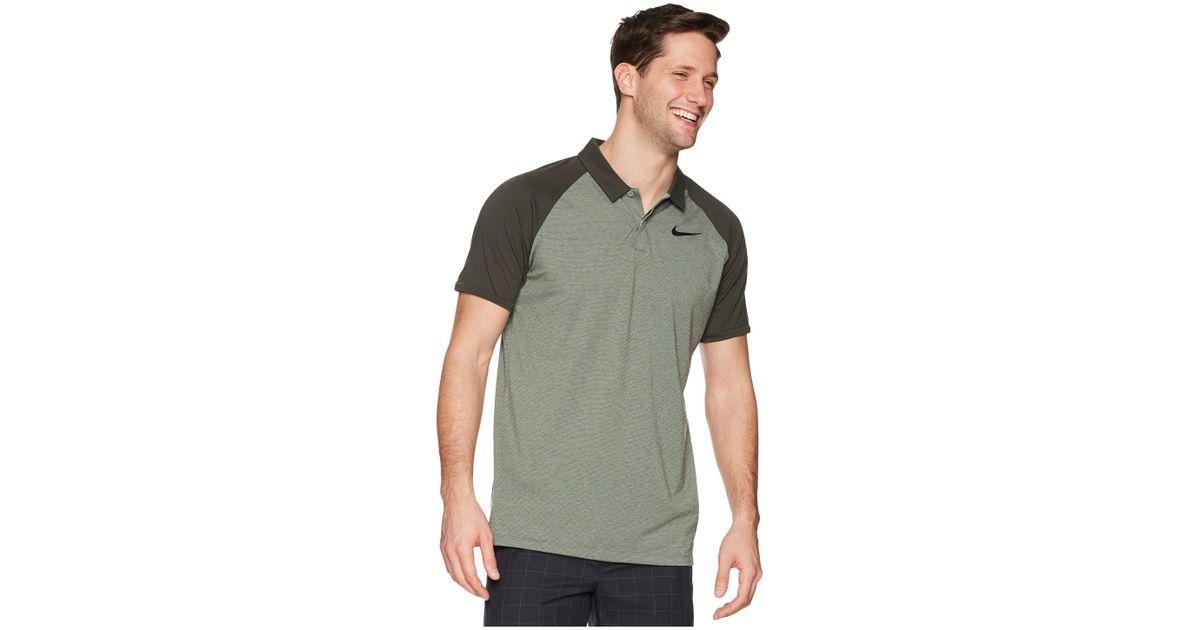 6c0cdb966 Nike Dry Polo Raglan (clay Green/sequoia/heather/black) Clothing in Green  for Men - Save 58% - Lyst