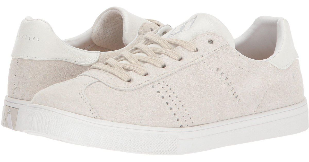 skechers moda perswayed lace up trainers pink suede 4