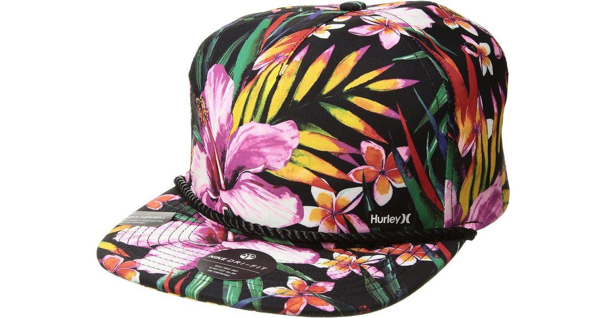 14d689de8 Hurley Dri-fit Garden Hat (black) Caps for men