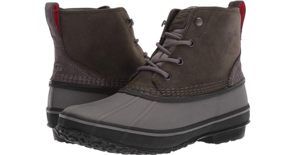 e5a814e0acc Ugg Gray Zetik Waterproof (chestnut) Men's Shoes for men