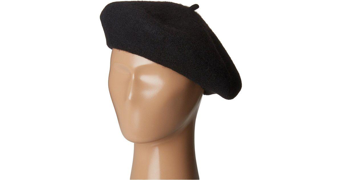 b714e07ef30 Lyst - San Diego Hat Company Wfb2006 Wool Felt Beret (camel) Berets in Black