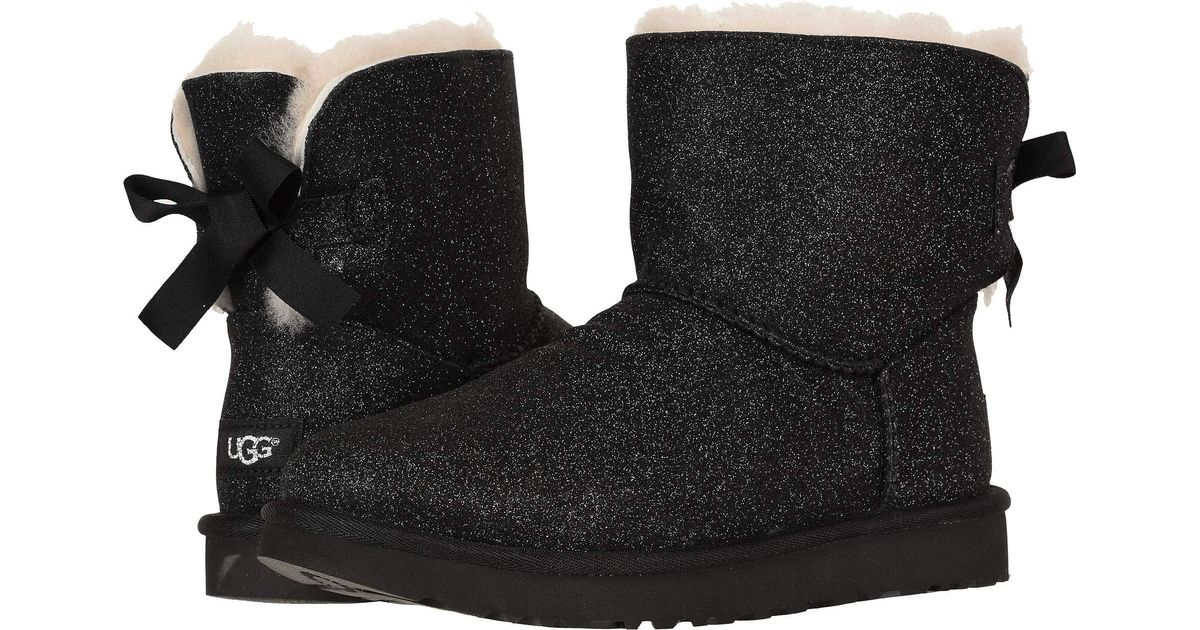 black glitter uggs with bows off 55