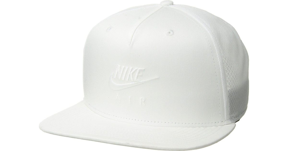 665d95b82dc51c ... canada lyst nike nsw pro cap air white white white white caps in white  for men