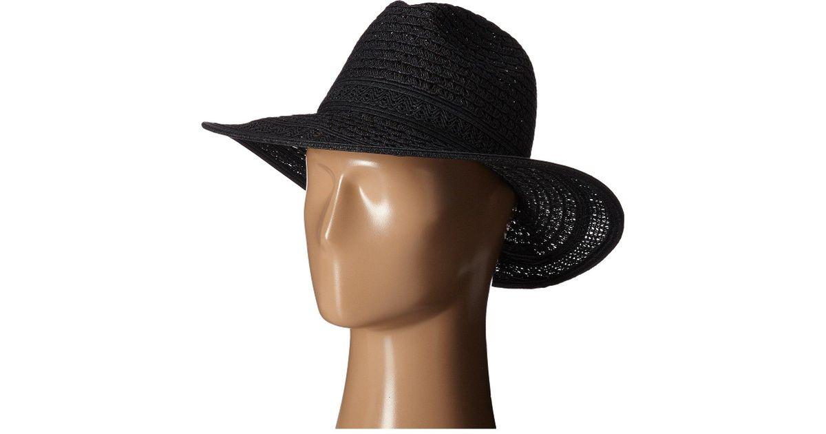 Lyst - San Diego Hat Company Ubm4452 Open Weave Panama Sun Hat in Black for  Men 371794b46a1f