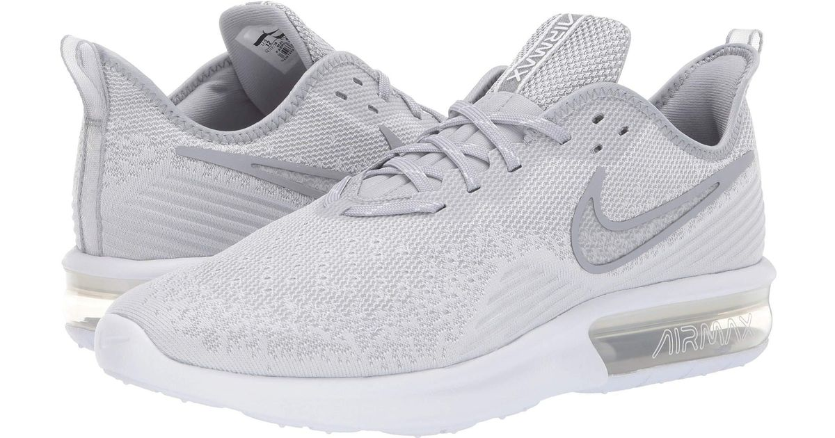 0c477f2319716 Nike Air Max Sequent 4 (white/white/wolf Grey) Running Shoes in White for  Men - Save 37% - Lyst