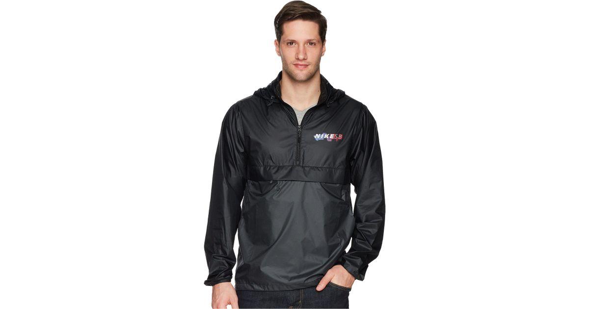 9eb869f87 Nike Sb Jacket Anorak Pack Hood (black/anthracite/solar Red) Coat for men